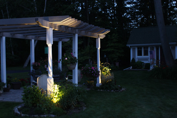 Backyard Pergola Light