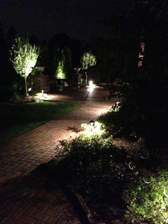 Path Lights Landscaped