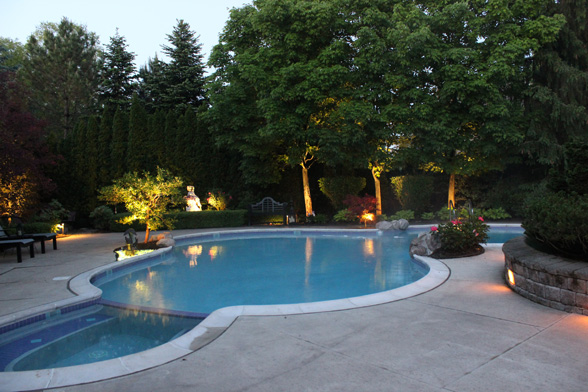 Midwest Lightscapes Pools Backyards Outdoor Lightingpool And Spa