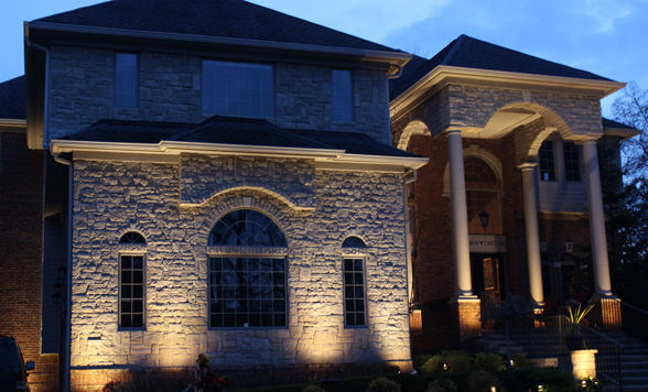 Home Accent Uplighting Midwest Lightscapes Outdoor