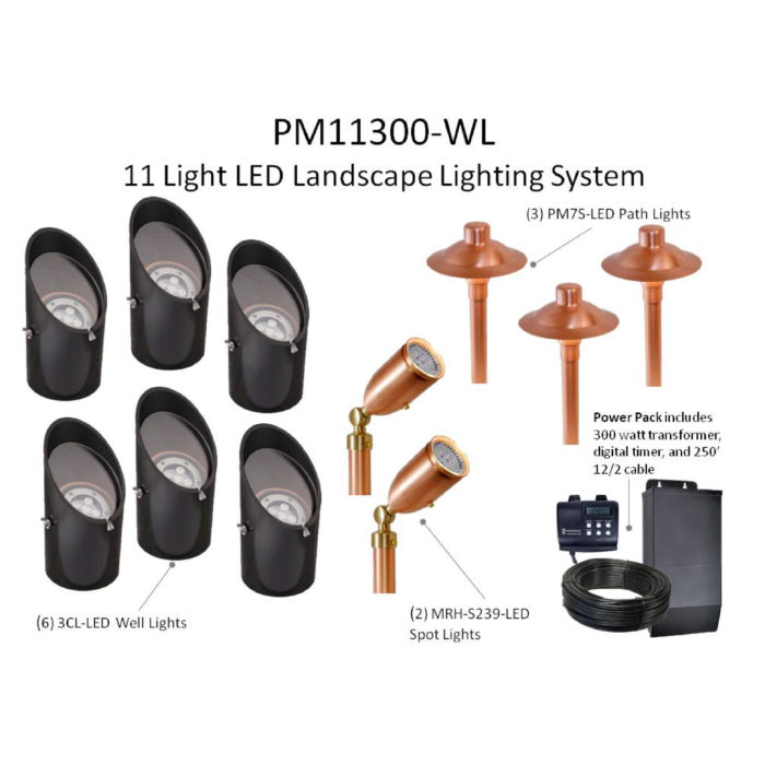 Diy well light package led midwest lightscapes outdoor lightbox aloadofball Choice Image