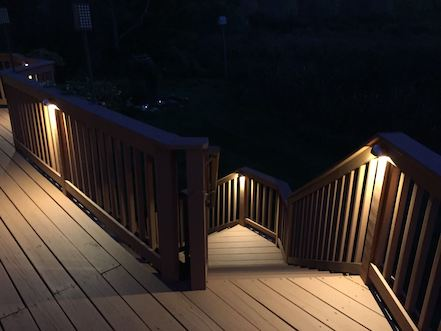 deck stairway lighting